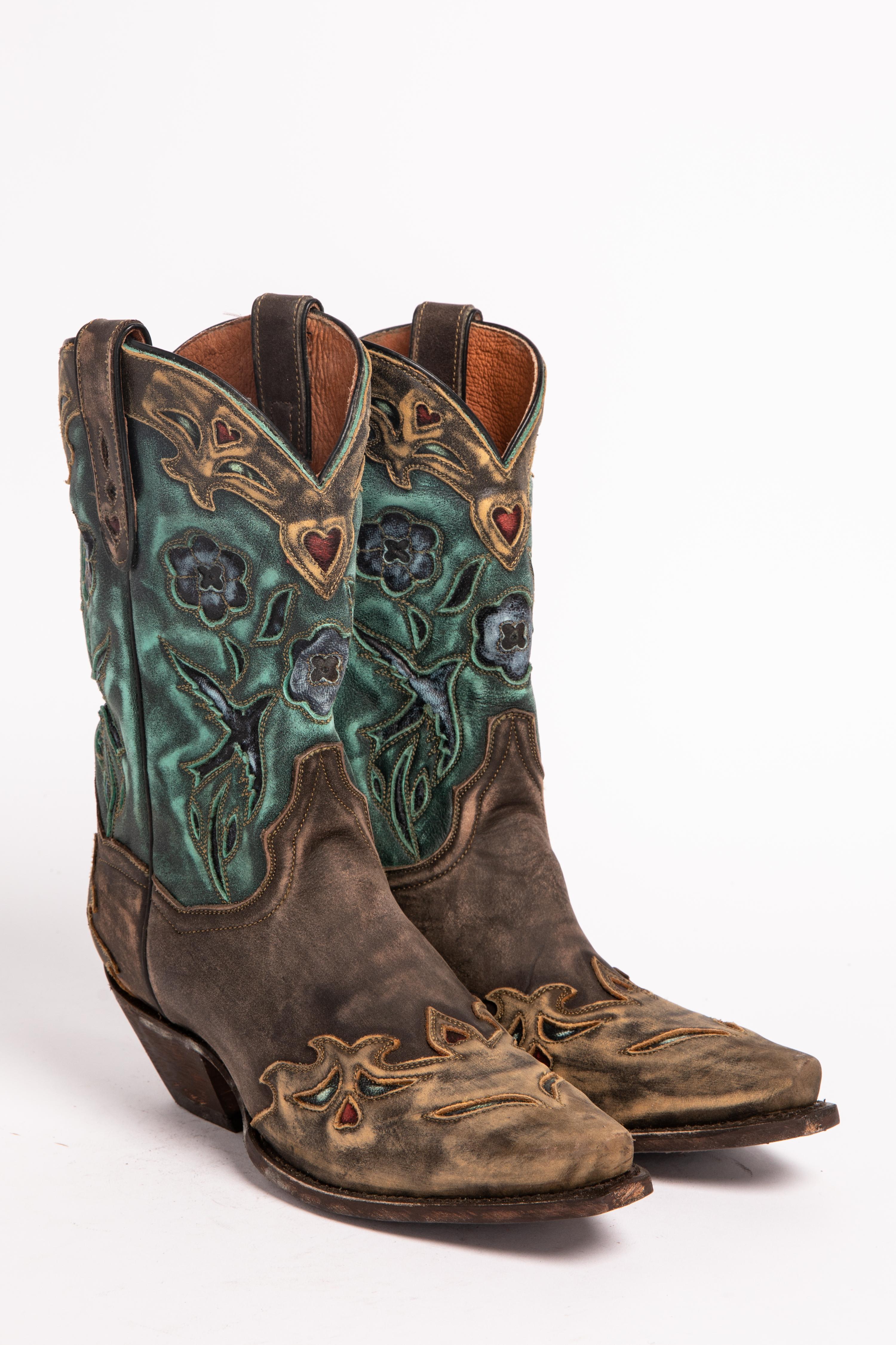 Dan Post Blue Bird Wingtip Cowgirl Boots - Snip Toe - Country ...