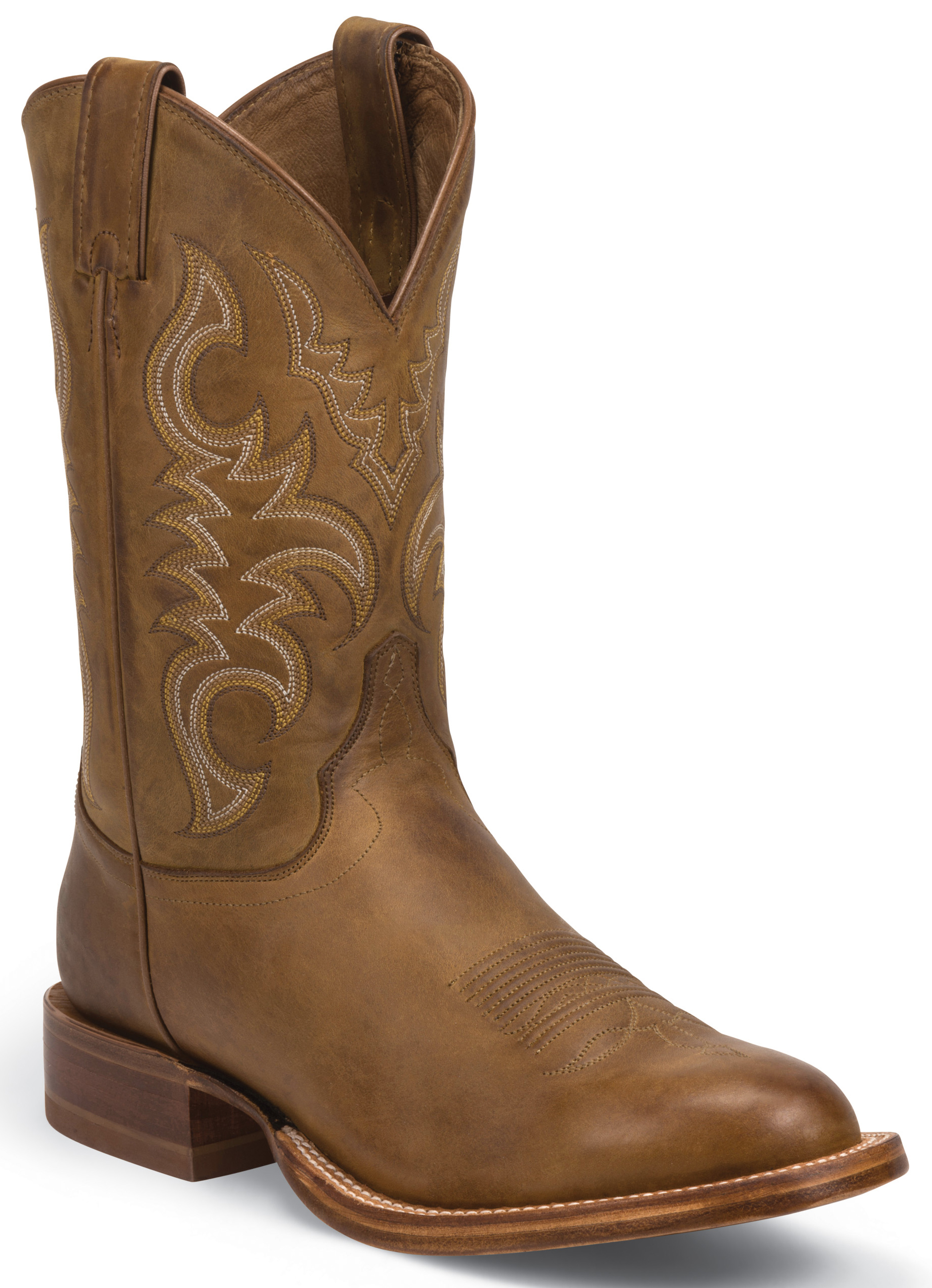 Justin Golden Brown Stampede Cpx Cowboy Boots Round Toe Country Outfitter