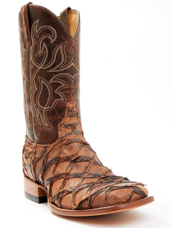 Cody James Men S Pirarucu Exotic Boots Square Toe