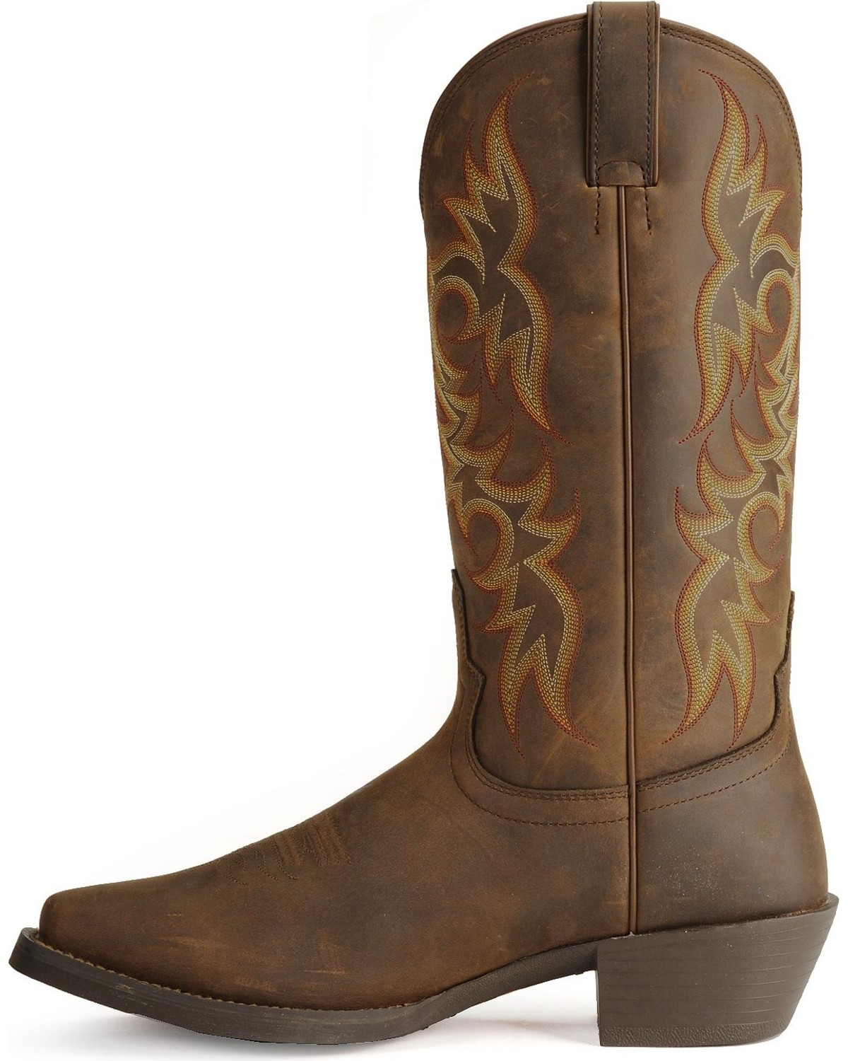 Justin Stampede Western Apache Cowboy Boots Square Toe Country Outfitter