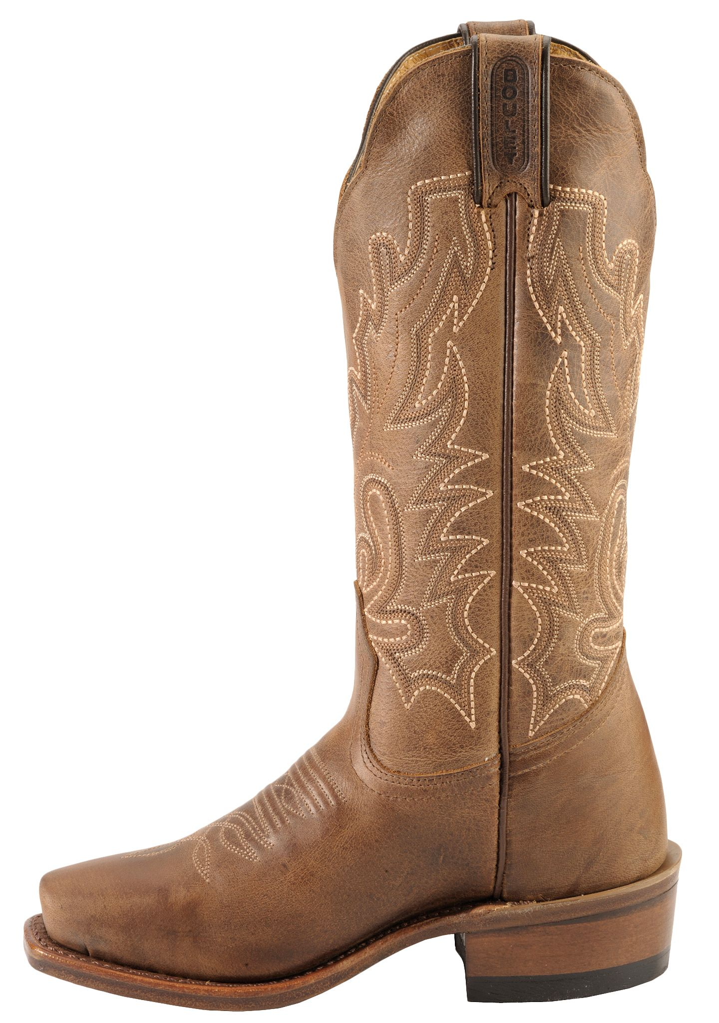 Boulet Lady Rancher Cowgirl Boots - Narrow Square Toe - Country ...