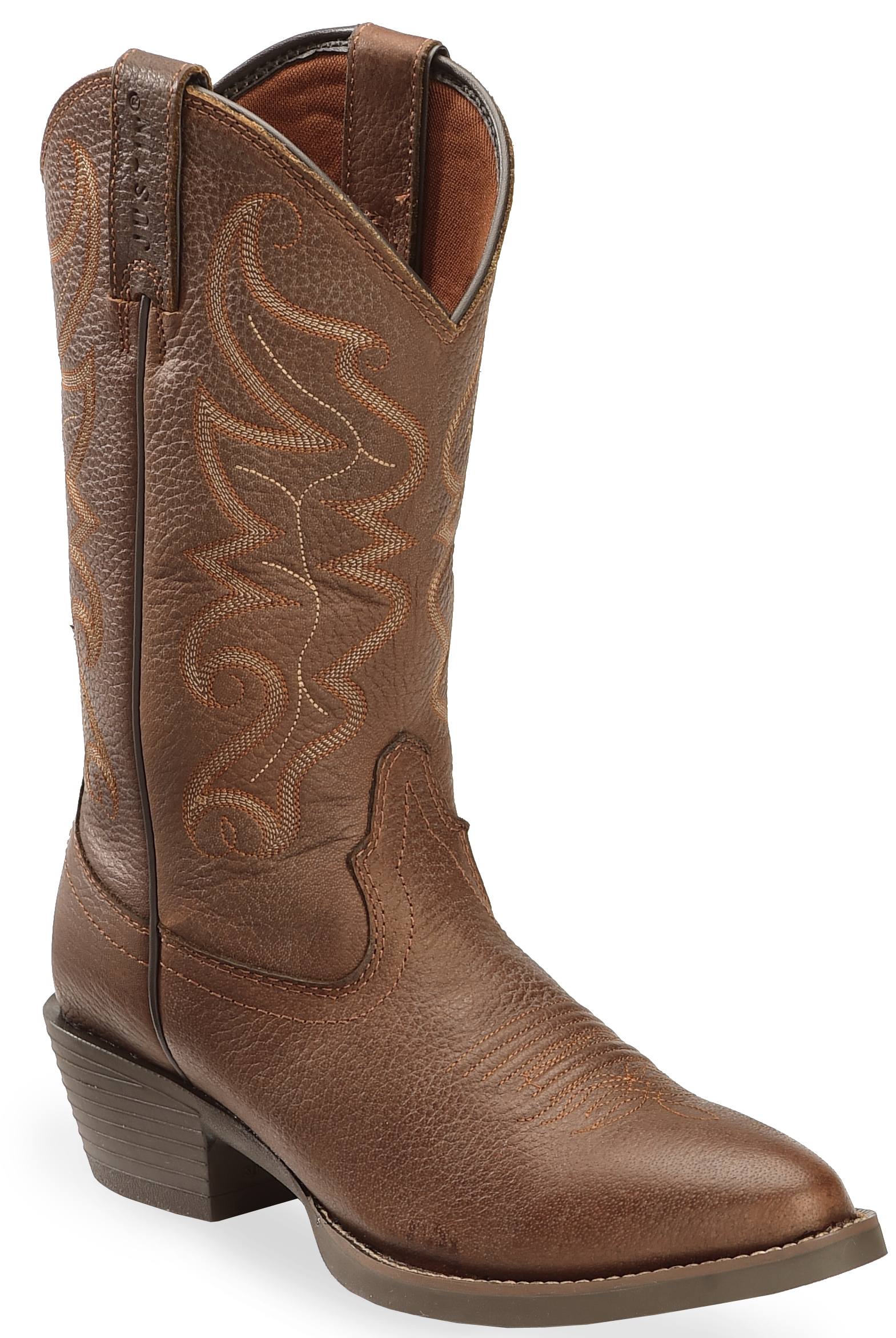 Justin men 39 s all star chocolate western boots round toe for New model boot