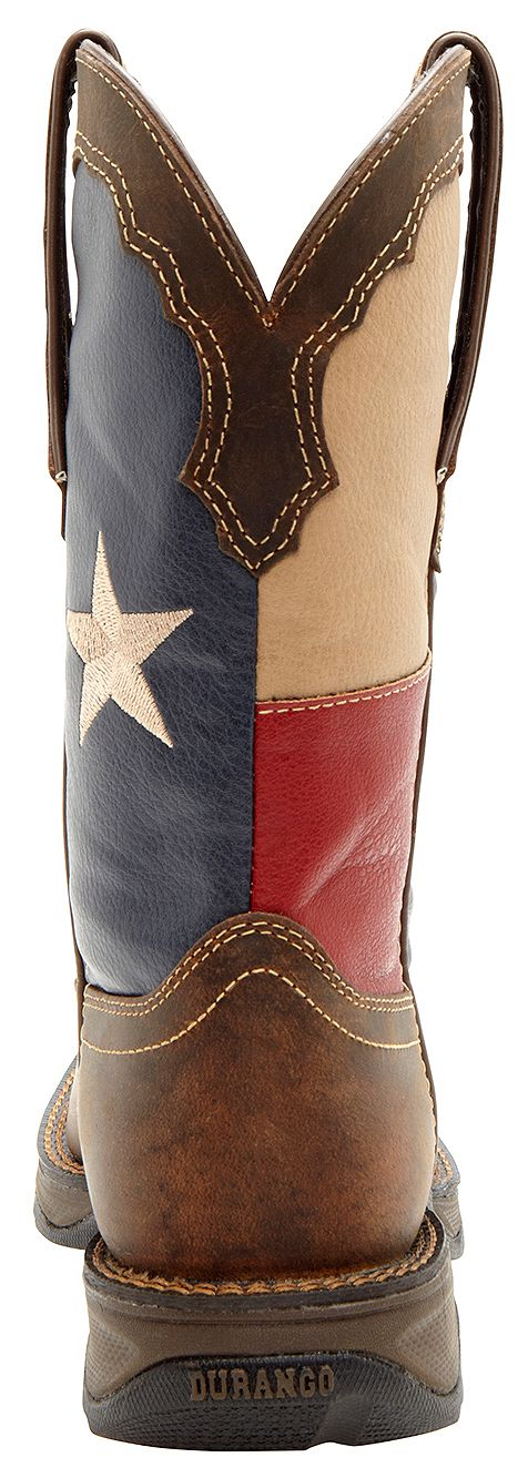 Durango Lady Rebel Texas Flag Cowgirl Boots - Square Toe - Country ...