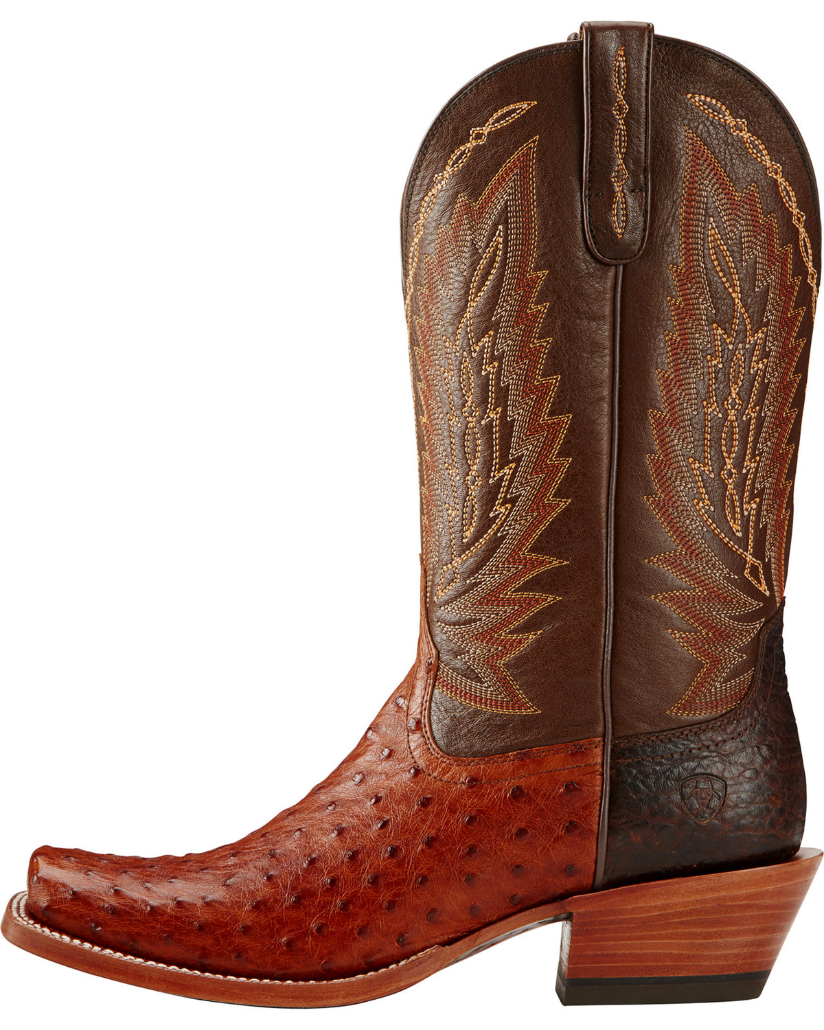 Ariat Brandy Super Stakes Full Quill Ostrich Cowboy Boots - Square ...