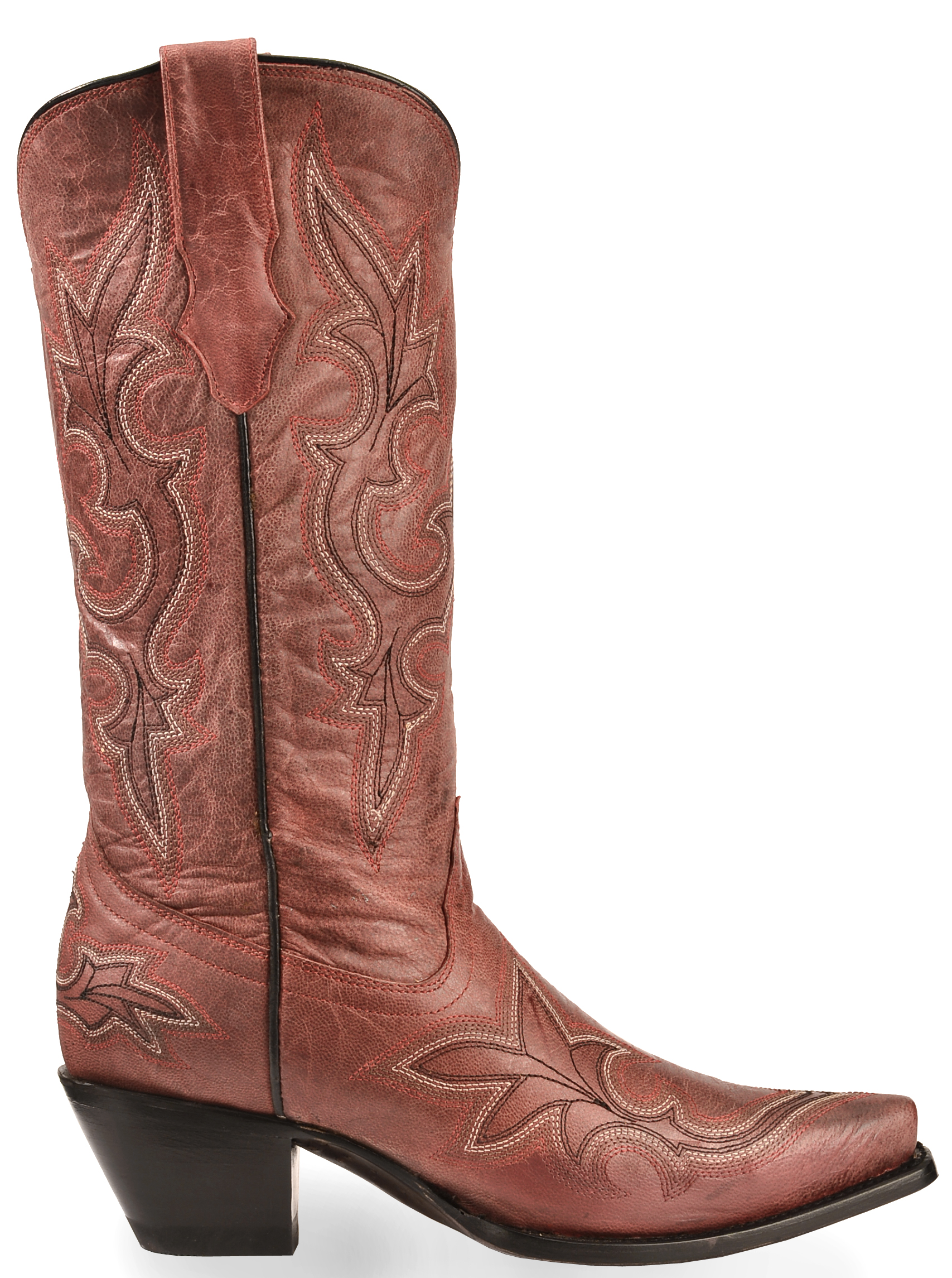 corral s vintage leather western boots snip toe