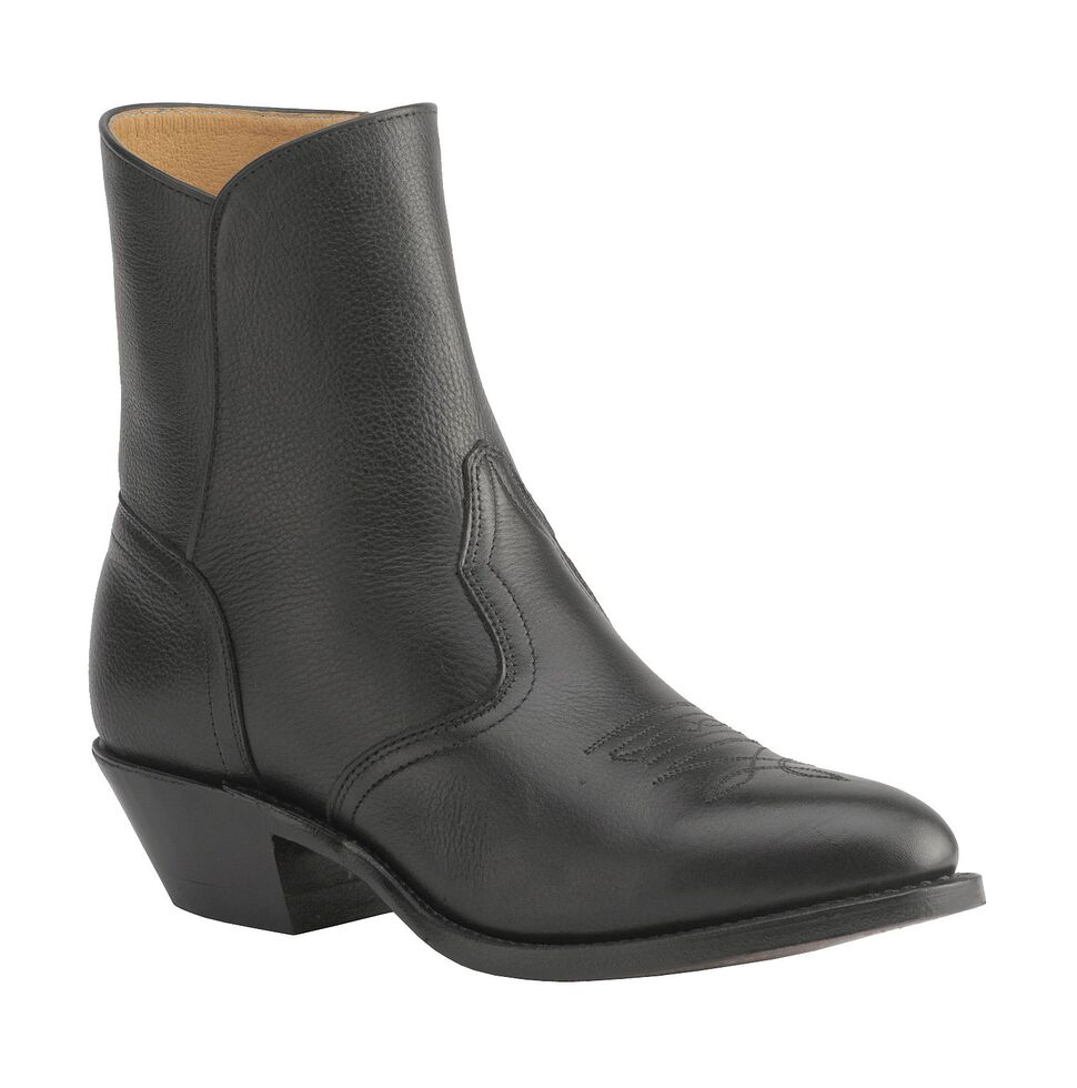 Boulet Men's Zipper Western Boots - Medium Toe, Black, hi-res