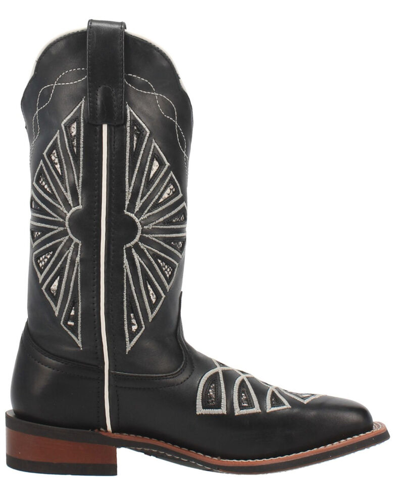 Laredo Women's Kite Days Western Boots - Wide Square Toe, Black, hi-res