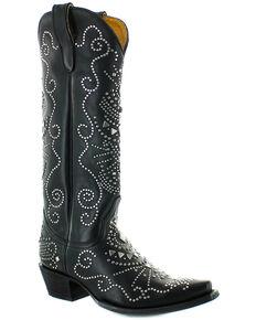 Old Gringo Women's Alyssa Western Boots - Snip Toe, Black, hi-res