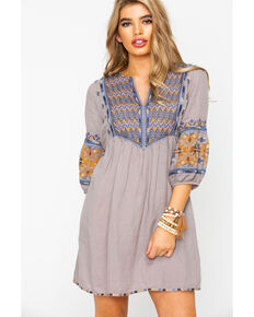 Johnny Was Women's Amika Paris Tunic Dress , Grey, hi-res