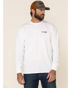 ATG™ by Wrangler Men's All-Terrain White Mountain Outline Graphic Long Sleeve T-Shirt , White, hi-res