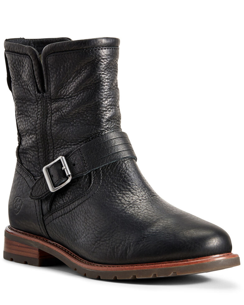 Ariat Women's Savannah Waterproof Boots - Round Toe, Black, hi-res