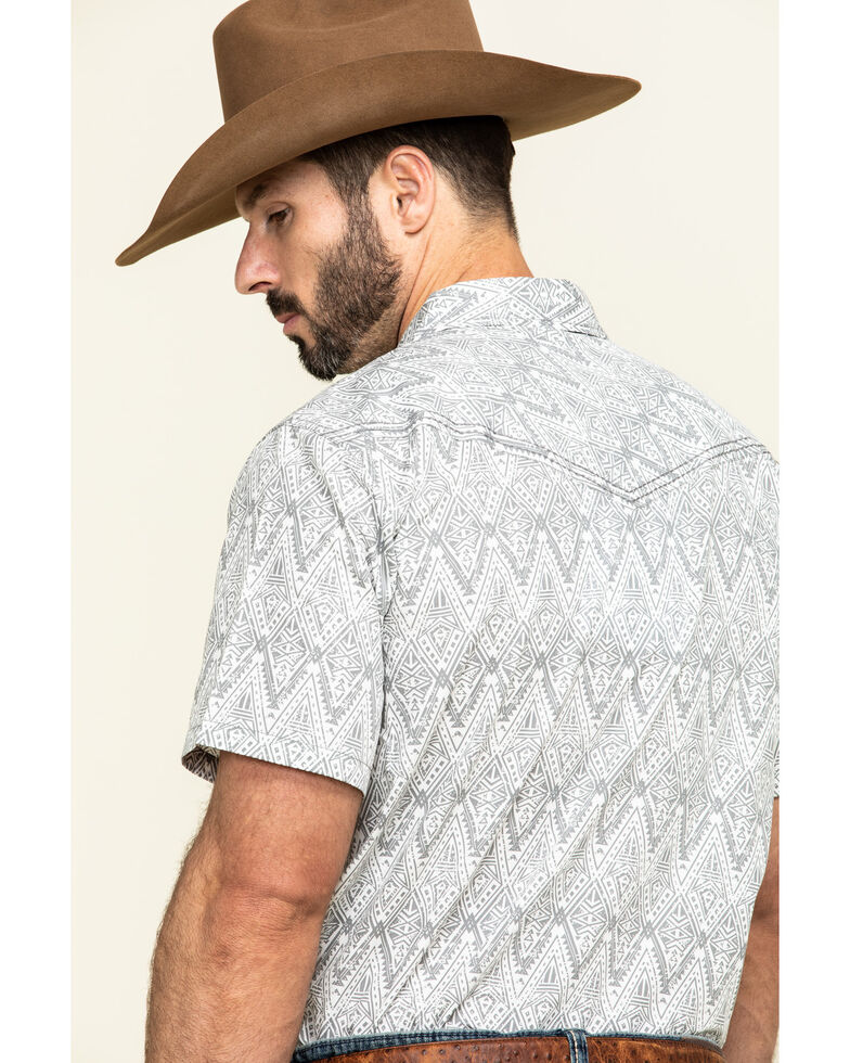 Cody James Men's Los Ranchos Aztec Print Short Sleeve Western Shirt , White, hi-res