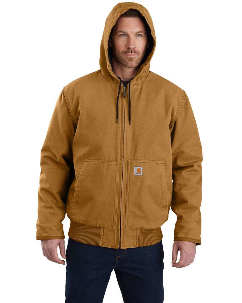 Carhartt Men's Sandstone Lined M 130 Active Work Jacket - Tall , Brown, hi-res