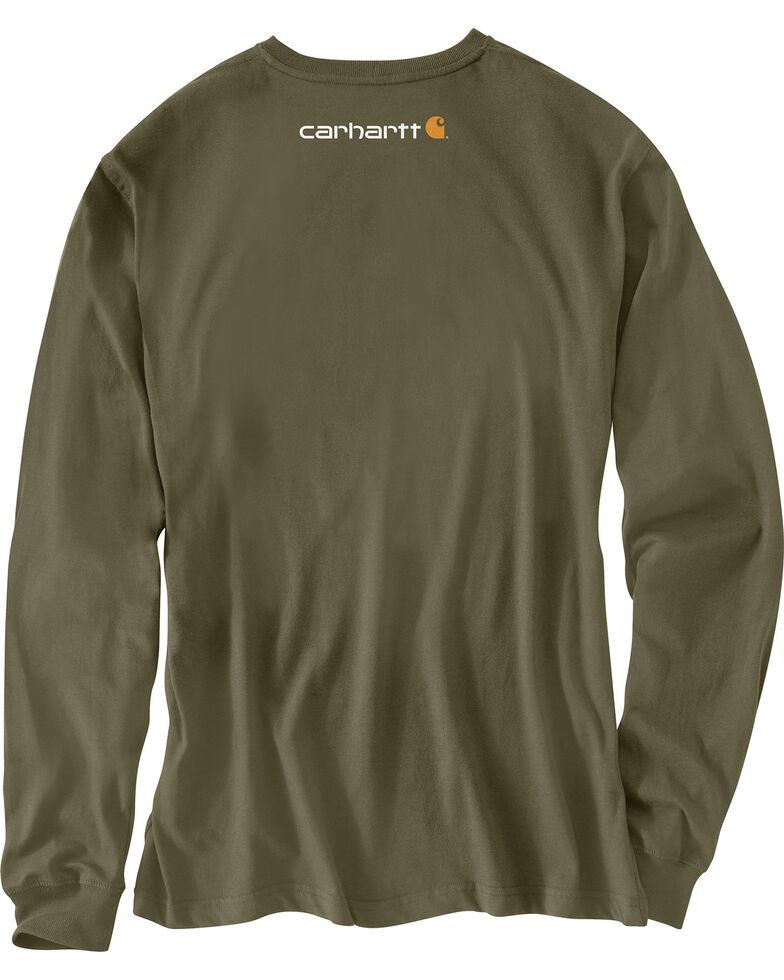 Carhartt Workwear Men's Saw Graphic Long Sleeve Work T-Shirt - Tall, Green, hi-res