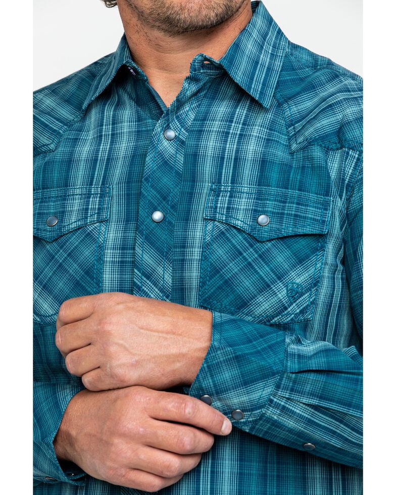 Ariat Men's Noxville Retro Plaid Long Sleeve Western Shirt , Multi, hi-res