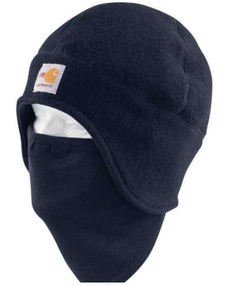Carhartt Men's Dark Navy Flame Resistant Fleece 2-in-1 Work Beanie , Navy, hi-res