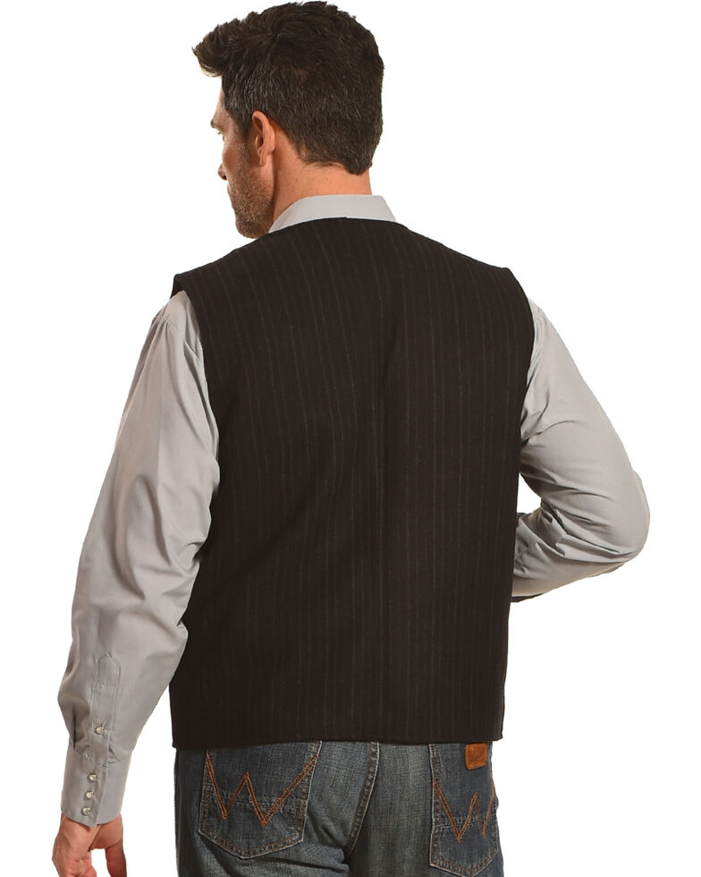 Wyoming Traders Men's Black Banker's Wool Vest, Black, hi-res
