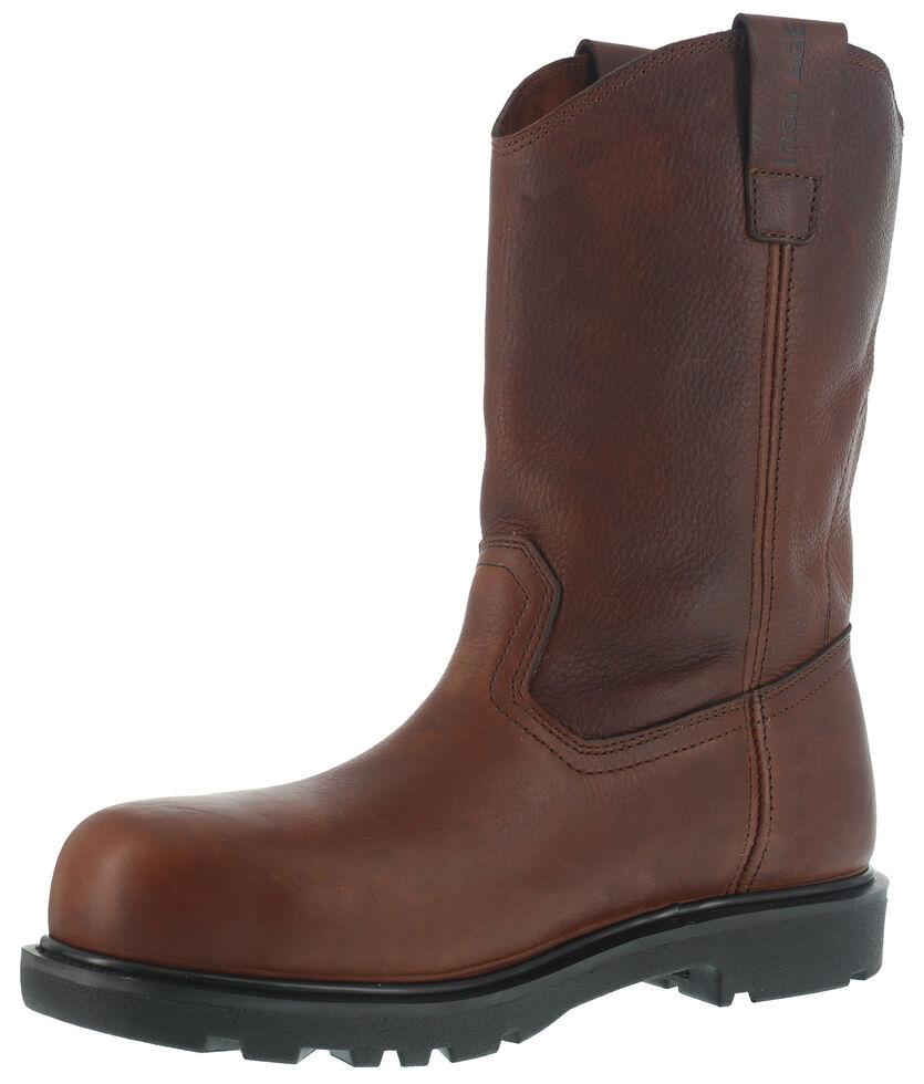 Iron Age Men's Hauler Wellington Work Boots - Composite Toe , Brown, hi-res