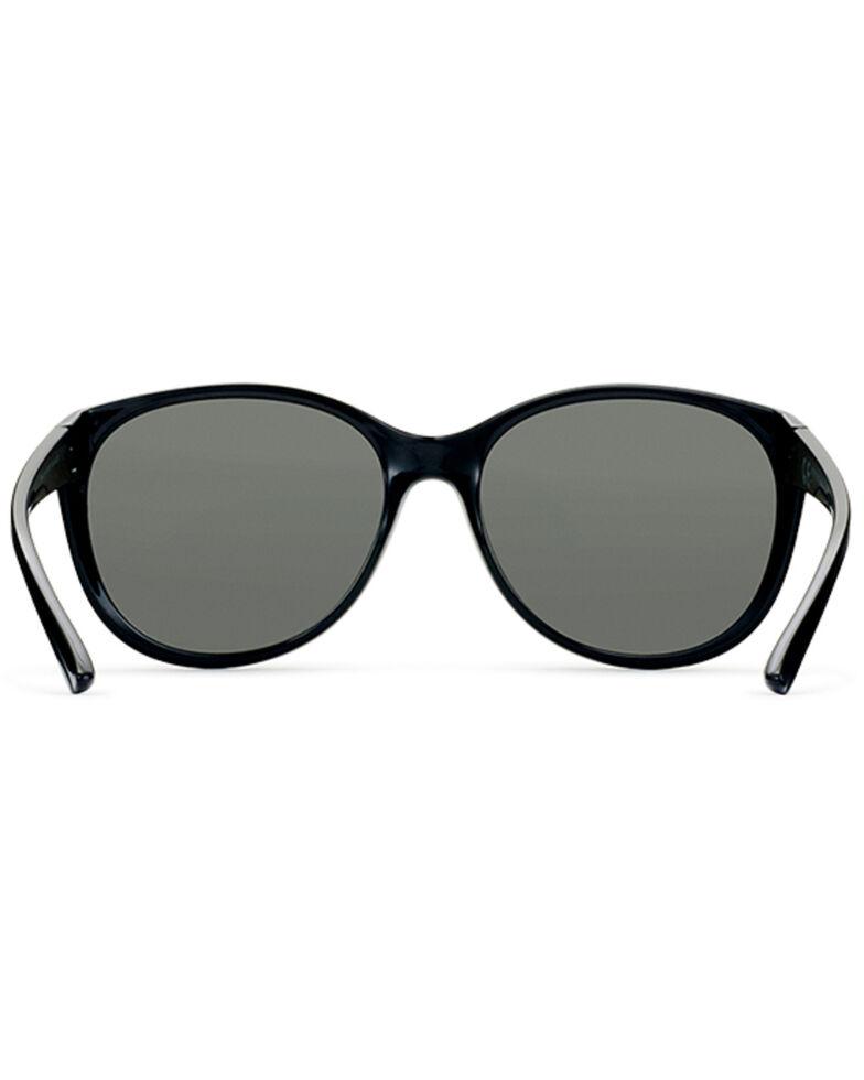 Hobie Women's Dana Shiny Black & Grey Polarized Sunglasses , Black, hi-res
