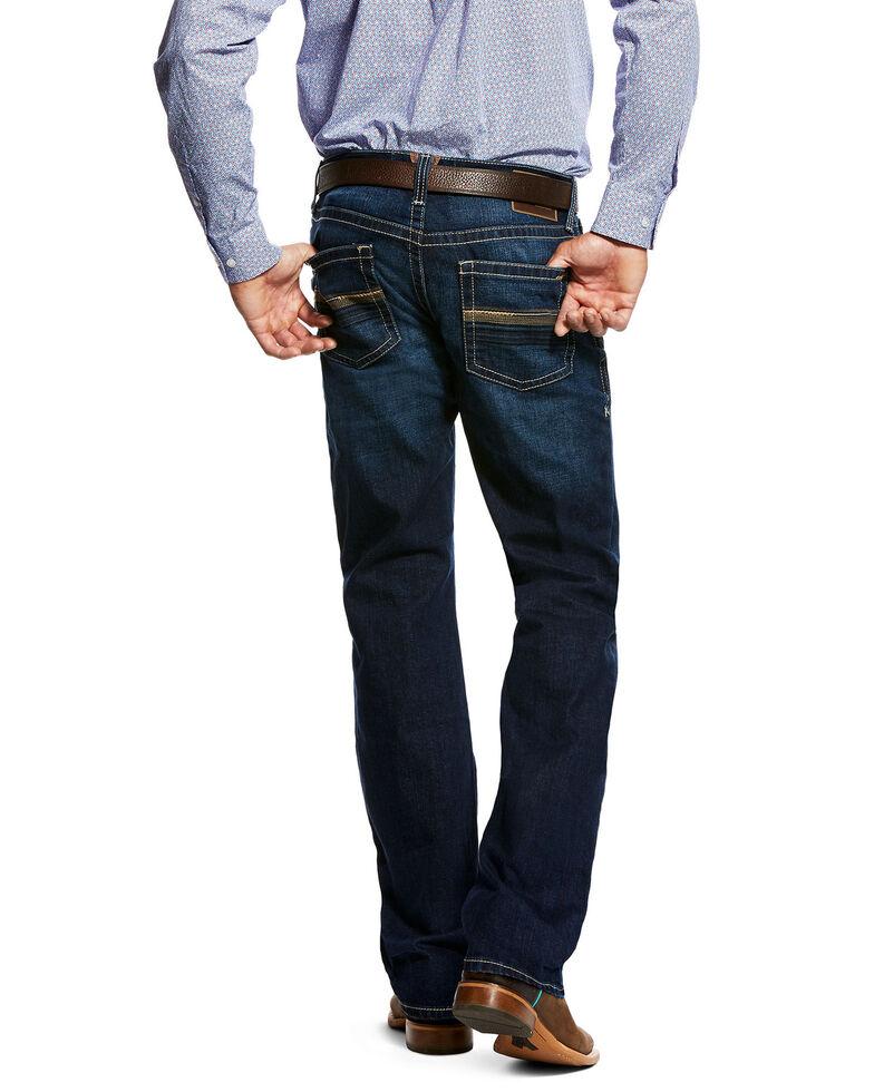 Ariat Men's Ellis Salton Dark Low Bootcut Jeans, Indigo, hi-res