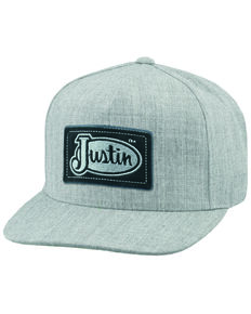 Justin Men's Light Grey Logo Patch Cap , Light Grey, hi-res