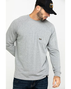 Ariat Men's Rebar Cotton Strong Long Sleeve Work Shirt - Big & Tall , Heather Grey, hi-res