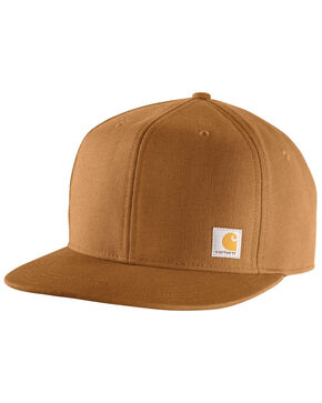 Carhartt Men's Ashland Flat BrimCap, Brown, hi-res