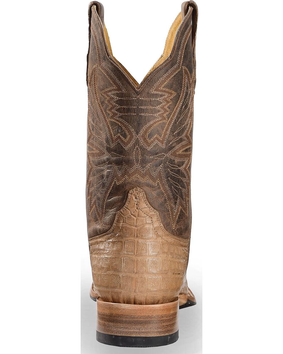 Cinch Classic Caiman Mad Dog Goatskin Cowboy Boots - Square Toe, Chocolate, hi-res