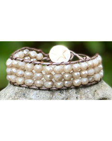 InspireDesigns Women's Threaded Cuff , Taupe, hi-res