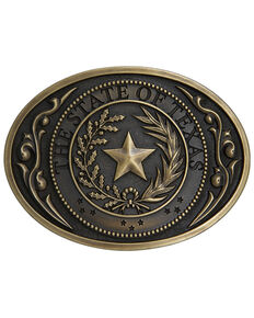 Cody James Men's The State Of Texas Seal Buckle, Bronze, hi-res
