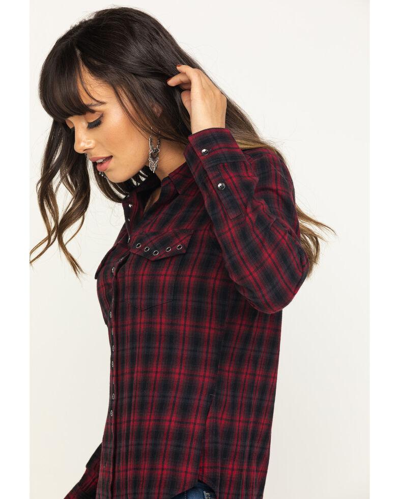 Shyanne Life Women's Black Flannel Shirt, Red, hi-res