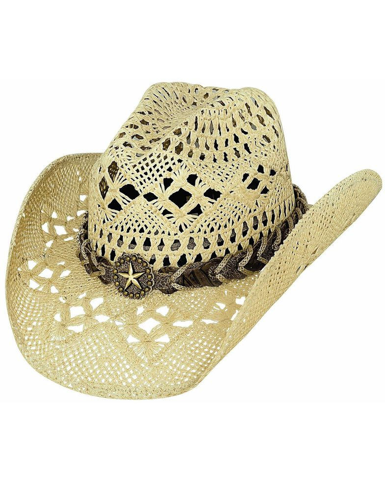 Bullhide Naughty Girl Straw Cowgirl Hat, Natural, hi-res