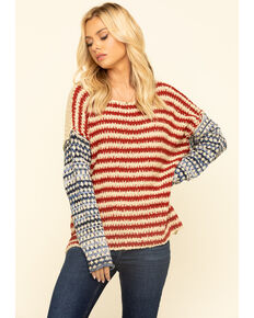 By Together Women's Americana Sweater, Multi, hi-res