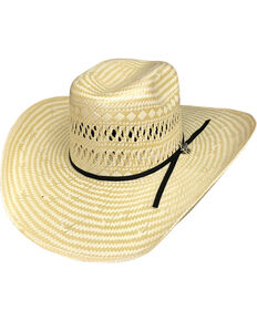 14bc792c3ecc Bullhide Men's Short Round 50X Straw Cowboy Hat