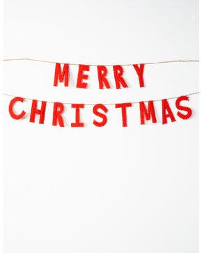 BB Ranch Merry Christmas Garland, White, hi-res