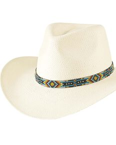Bullhide Women's Saginaw Straw Hat, Ivory, hi-res