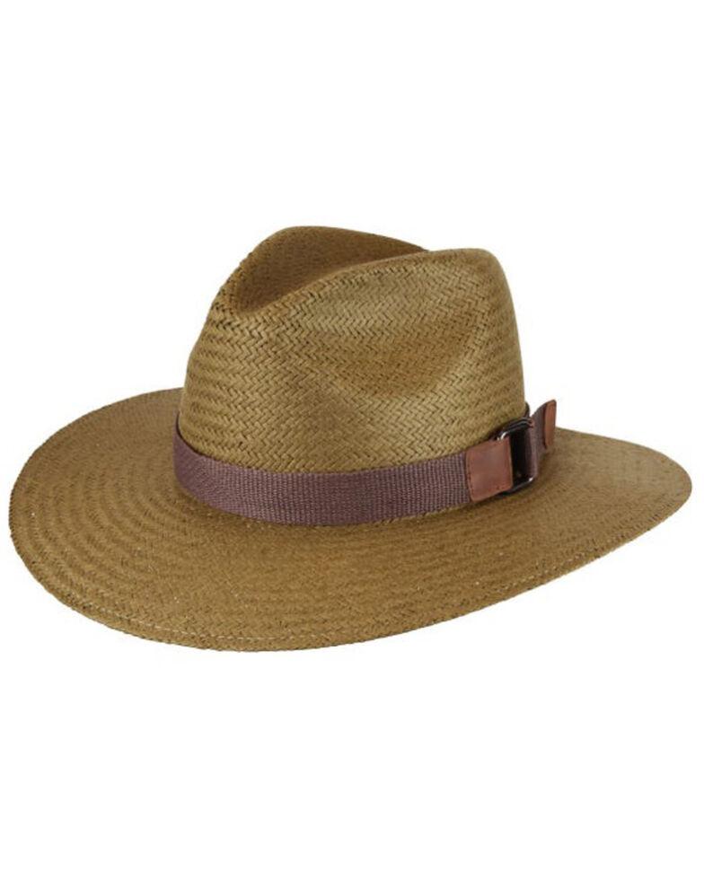 Bailey Bog Quade Raindura Outback Western Straw Hat , Brown, hi-res