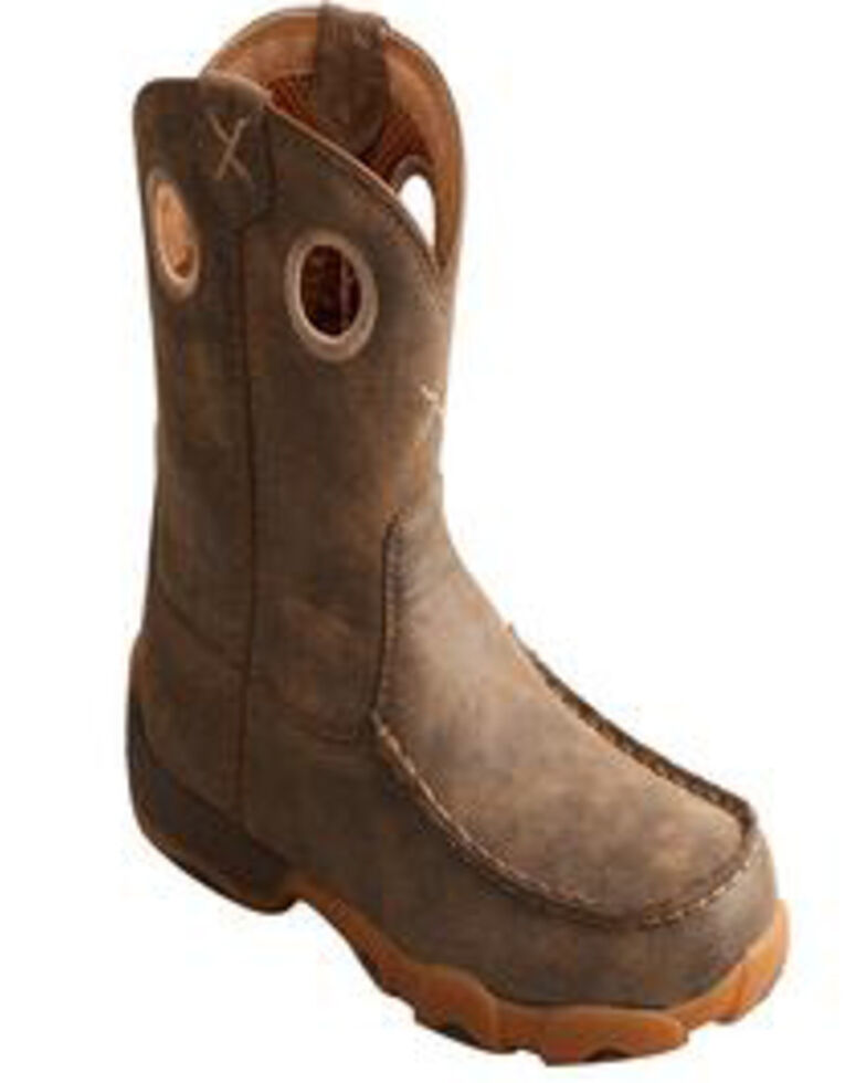 Twisted X Boy's Driving Moc Boots, Brown, hi-res