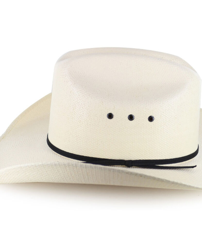 Cody James Black Tie Straw Cowboy Hat, Natural, hi-res