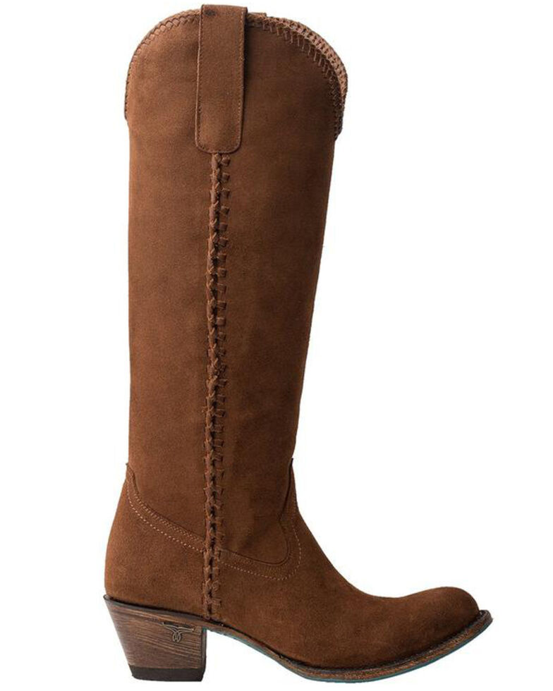 Lane Women's Brown Plain Jane Western Boots - Round Toe, Brown, hi-res