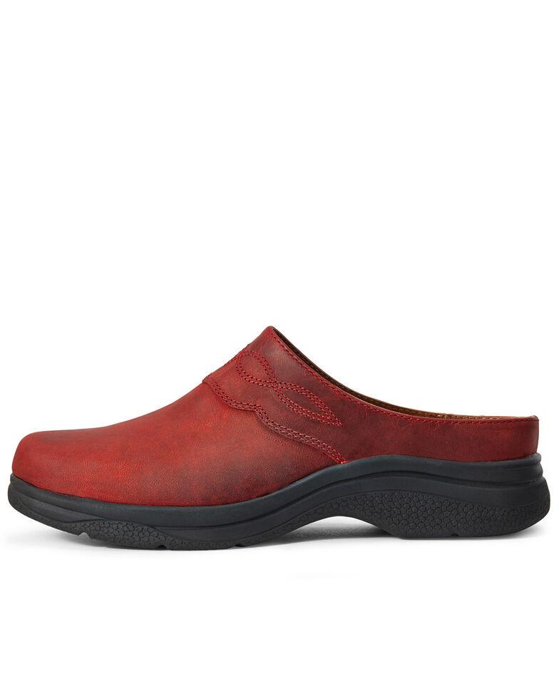 Ariat Women's Bridgeport Mule Shoes - Round Toe, Red, hi-res