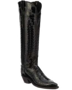 Lucchese Women's Priscilla Western Boots - Snip Toe, Black, hi-res