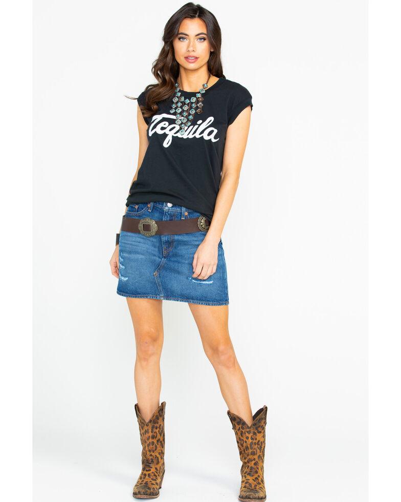 Levi's Women's Middle Avenue Med Wash Denim Skirt , Blue, hi-res