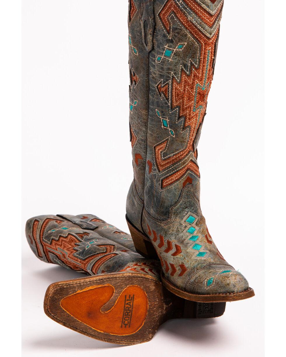 Corral Women's Grey Jute Inlay Boots - Square Toe , Grey, hi-res