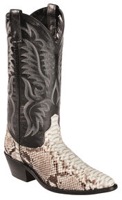 Laredo Key West Python Cowboy Boots - Medium Toe, Natural, hi-res