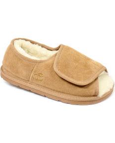Lamo Footwear Women's Open Toe Wrap Slippers, Chestnut, hi-res