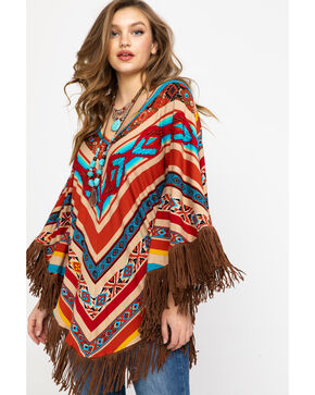 Honey Creek by Scully Women's Serape Poncho, Multi, hi-res
