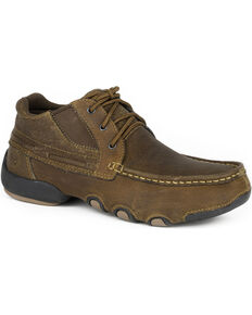 Roper Men's Tan High Country Cruisers Casual Driving Moc Shoes, Tan, hi-res