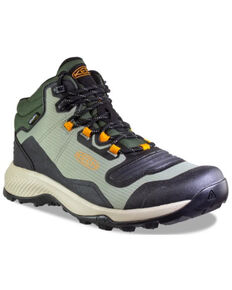 Keen Men's Vetiver & Desert Sun Tempo Flex Waterproof Lace-Up Hiking Boot , Taupe, hi-res