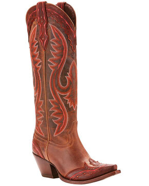 Ariat Women's Adelina Tall Cowgirl Boots - Snip Toe, Brown, hi-res